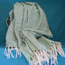 Picture of Strip Green Scarf
