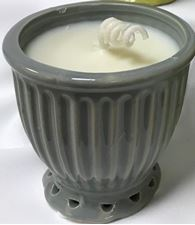 Picture of Citronella Candle in Gray Pot