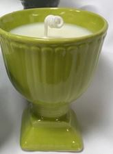 Picture of Citronella Candle Green Pedestal Pot